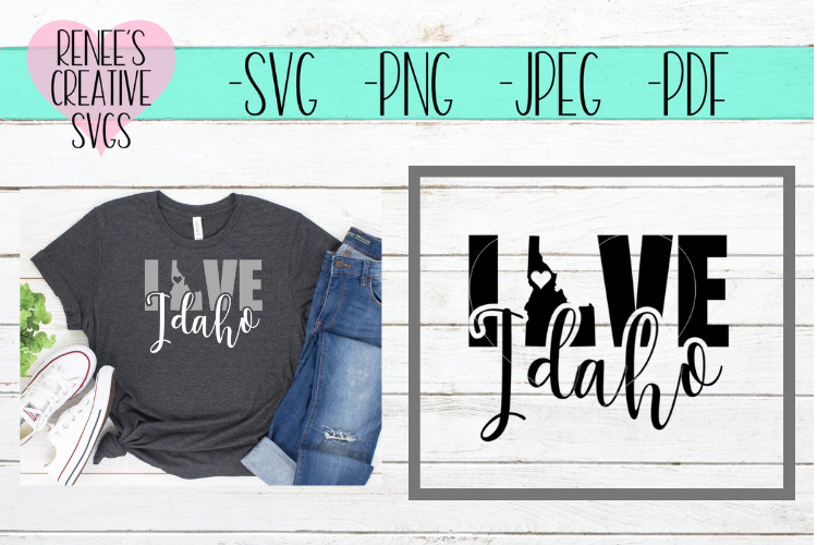 Idaho Love   State SVG   SVG Cutting File example image 1