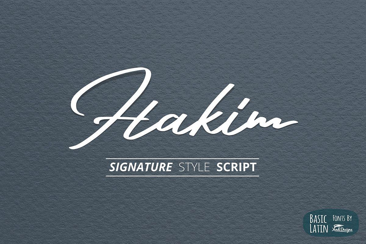 Hakim Signature Font example image 1