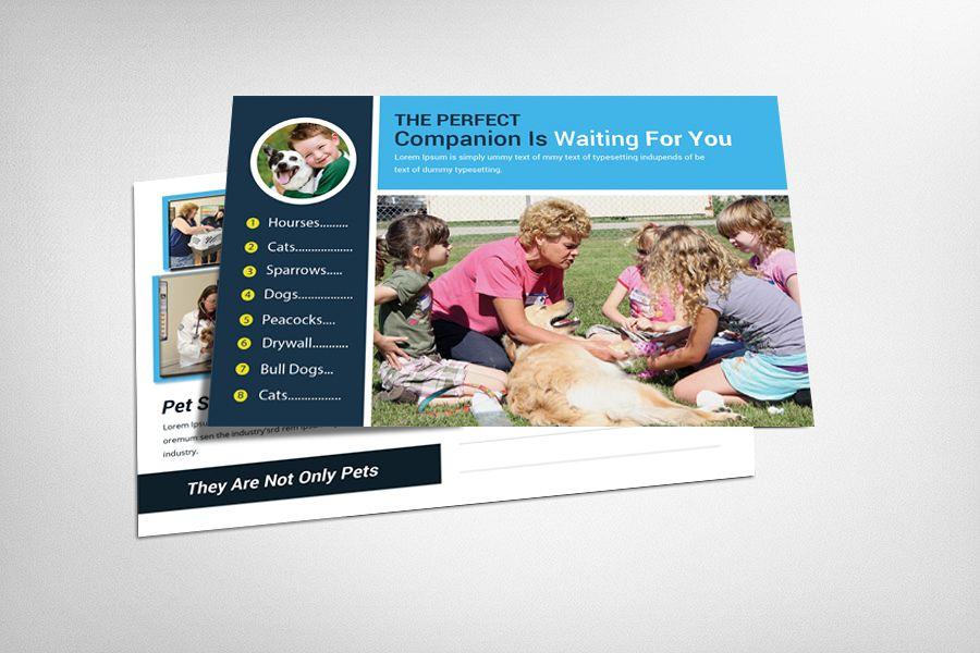 Pet Clinic & Shop Postcard Template example image 1