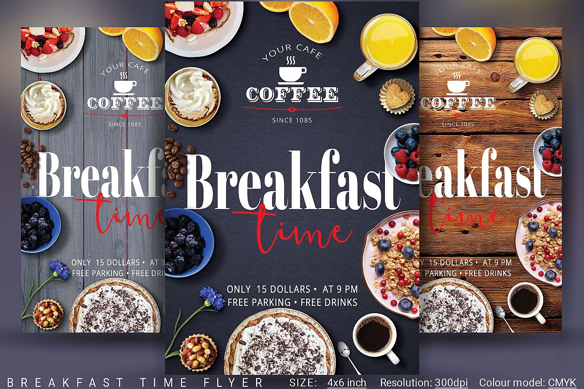 Breakfast Time Flyer example image 1