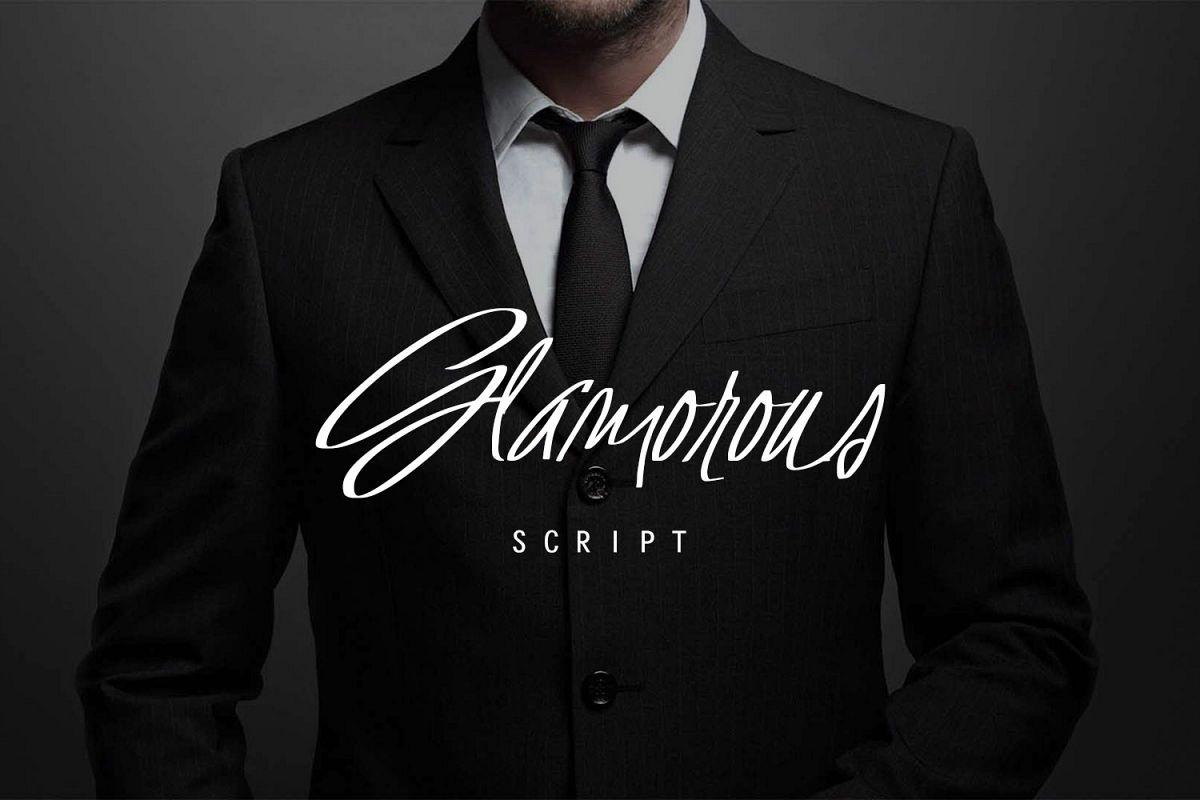 Glamorous Script example image 1
