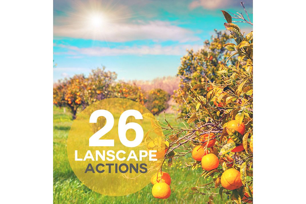 26 Landscape Photoshop Actions Collection (Action for photoshop CS5,CS6,CC) example image 1