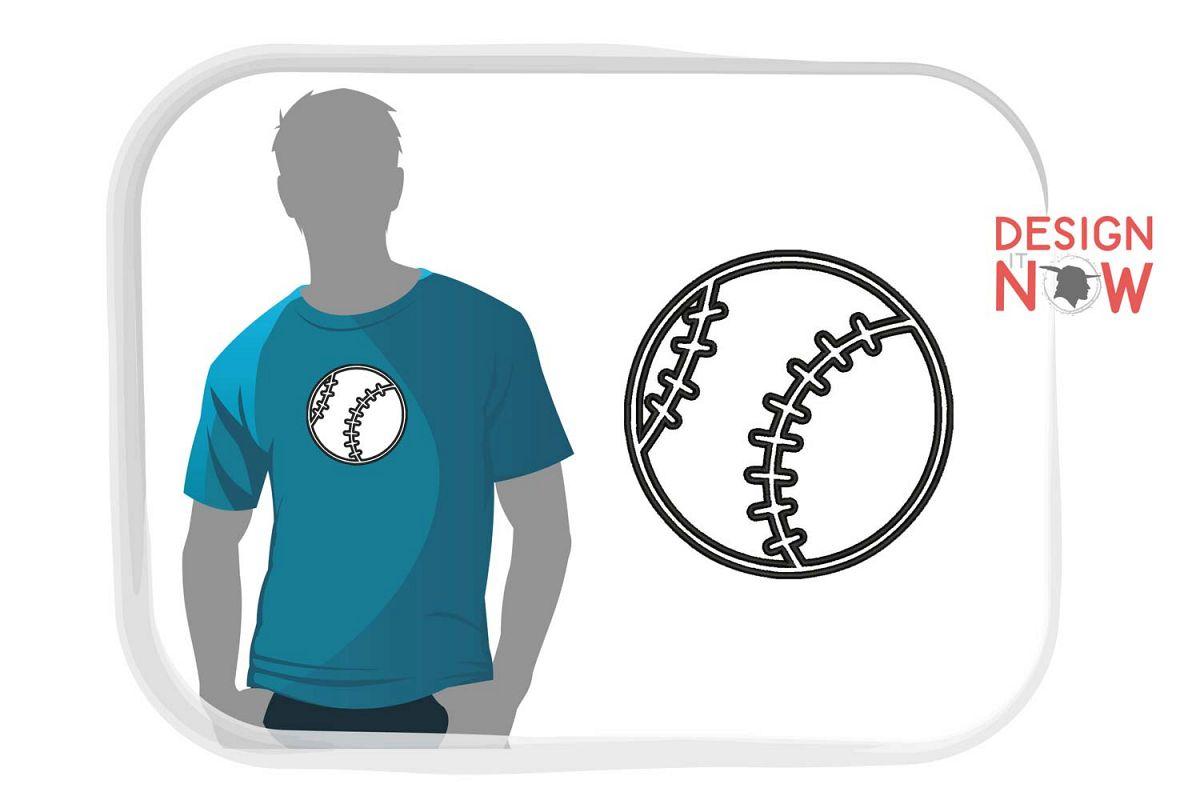 Baseball Applique Design, Sport Embroidery, Ball Applique example image 1