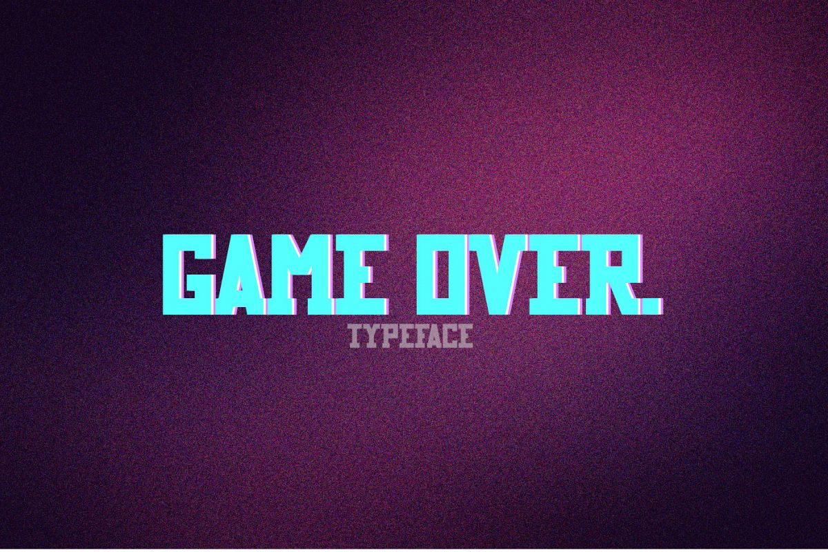 Game Over typeface example image 1