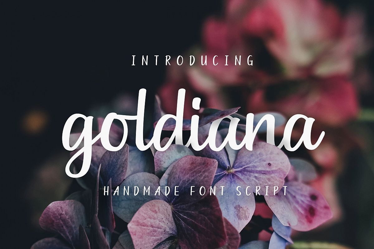 Goldiana - Font Script example image 1