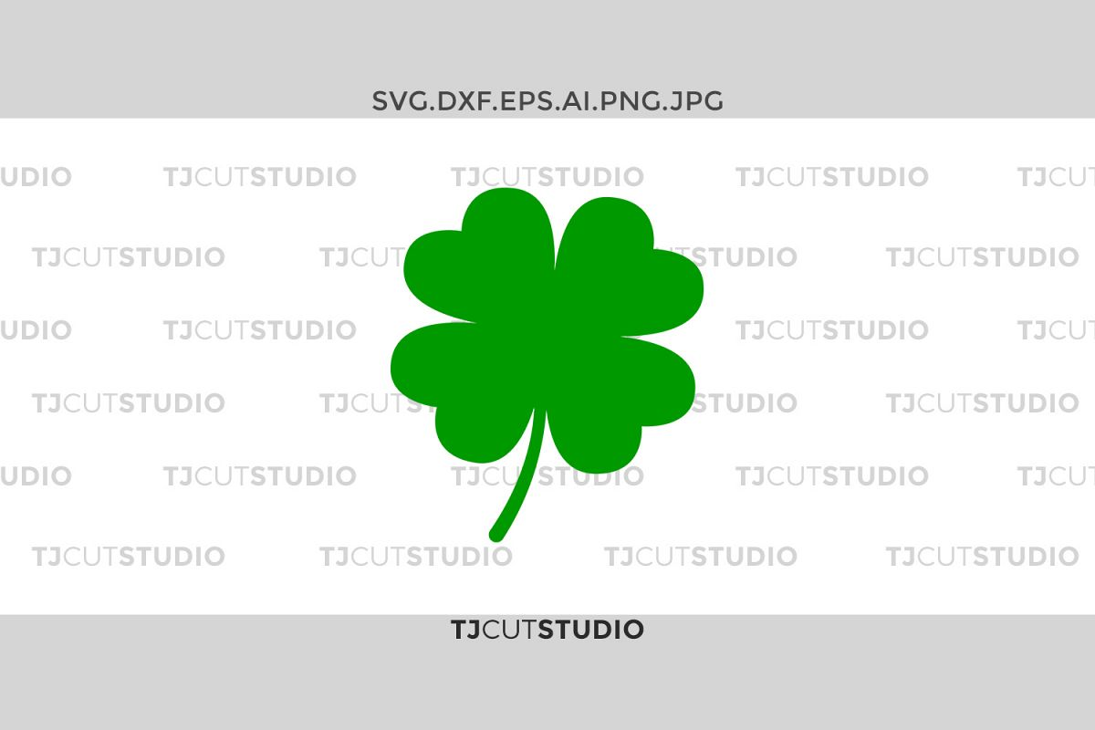 Shamrock monogram svg, four leaf clover svg, clover svg, Svg Files for Silhouette Cameo or Cricut, Commercial & Personal Use. example image 1
