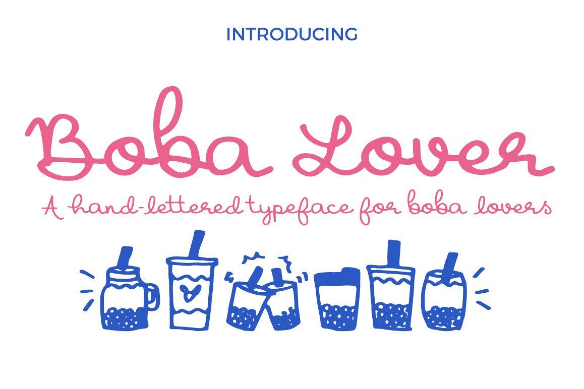 Boba Lover Script Font example image 1