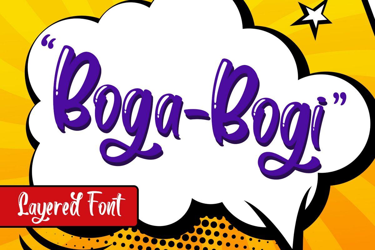 Boga-bogi Layered Font example image 1
