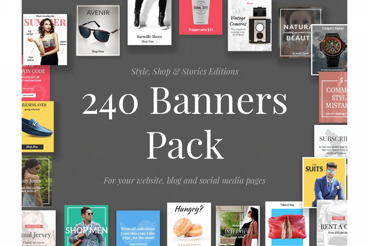 240 Banners Pack example image 1