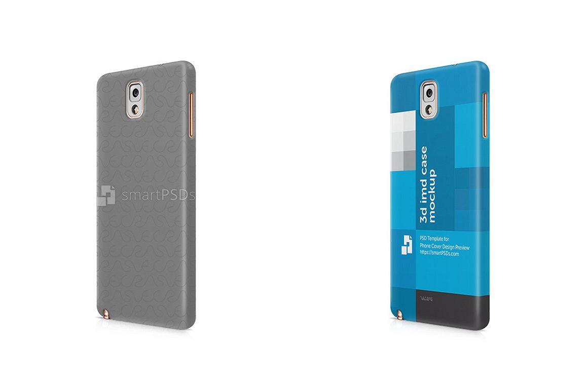 Samsung Galaxy Note 3 3d IMD Mobile Case Design Mockup 2013 example image 1