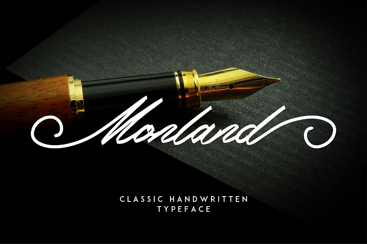 Monland Script | Classic Handwritten example image 1
