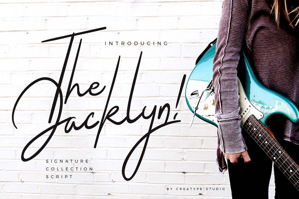 The Jacklyn Signature Font example image 1
