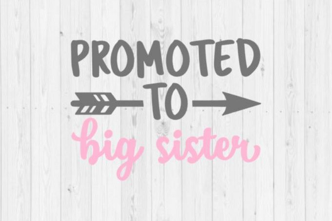 Promoted To Big Sister SVG Cut File for Silhouette