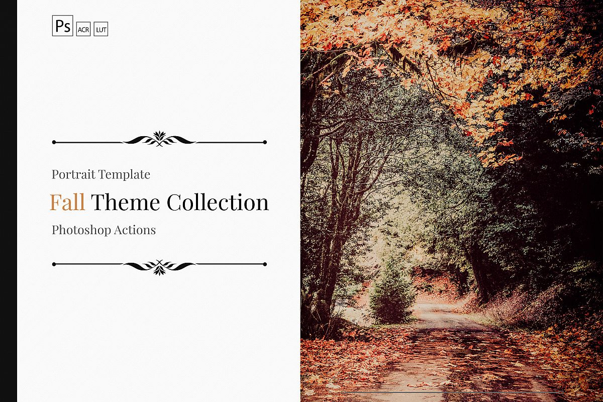 150 Fall Theme Color Grading Premium Photoshop action example image 1