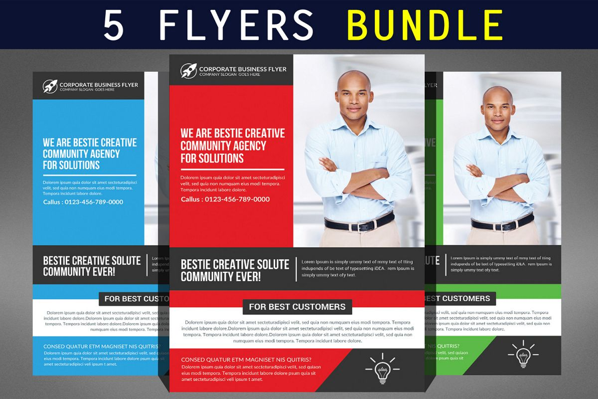 Creative Business Flyer Bundle Example Image 1