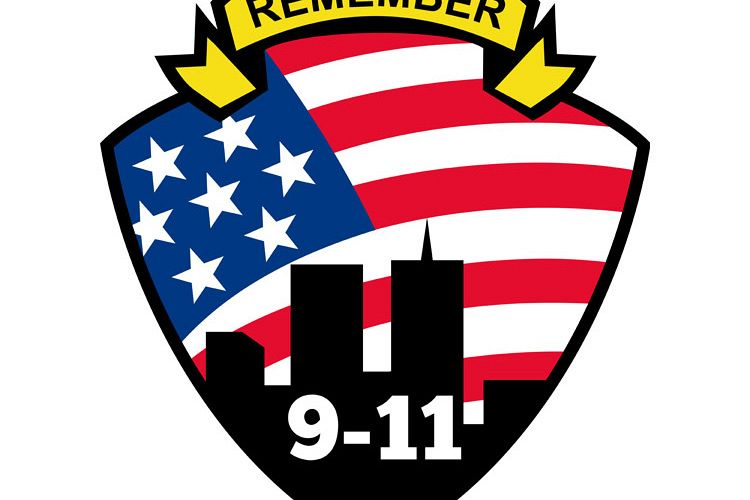 9-11 World Trade Center American Flag Shield example image 1