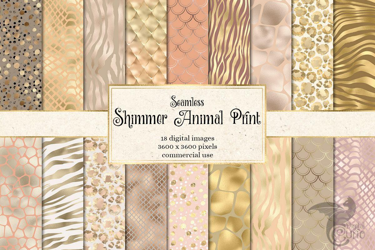 Shimmer Animal Print Digital Paper example image 1