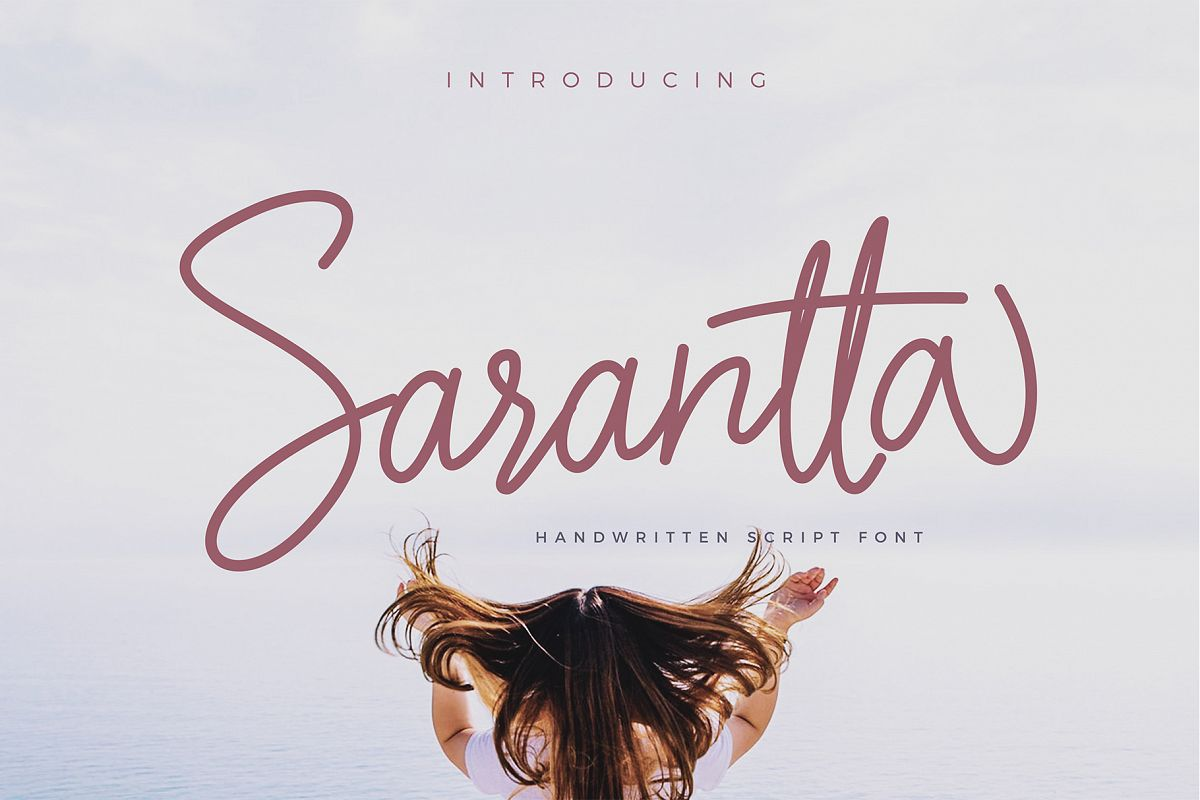 Sarantta   Handwritten Script Font example image 1