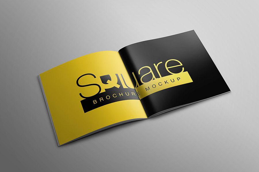 Square Brochure Mockup example image 1