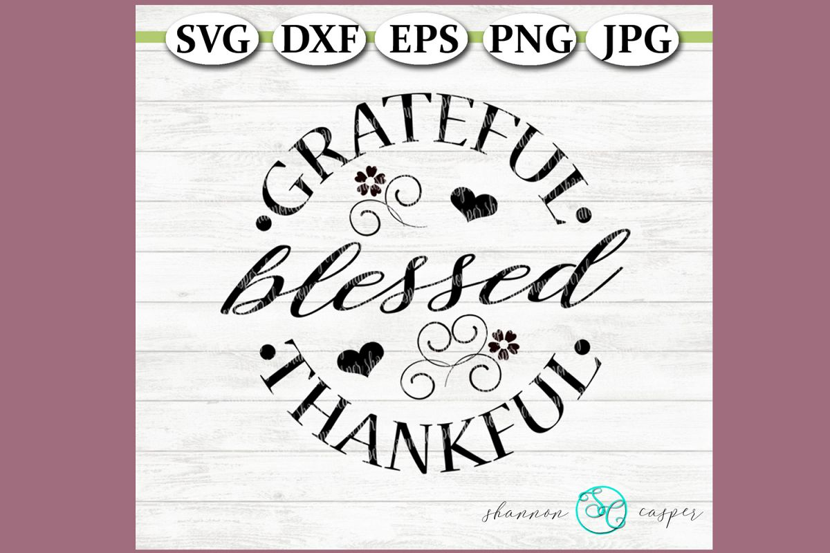 Grateful Blessed Thankful example image 1