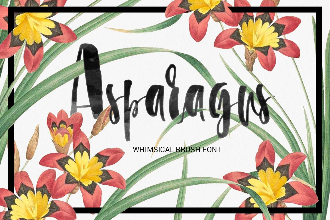 Asparagus - whimsical brush font example image 1