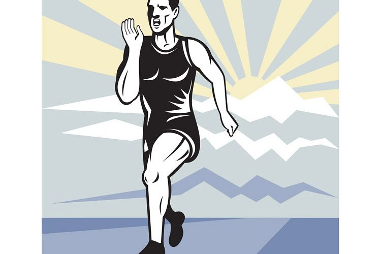 Marathon runner jogger fitness running front example image 1