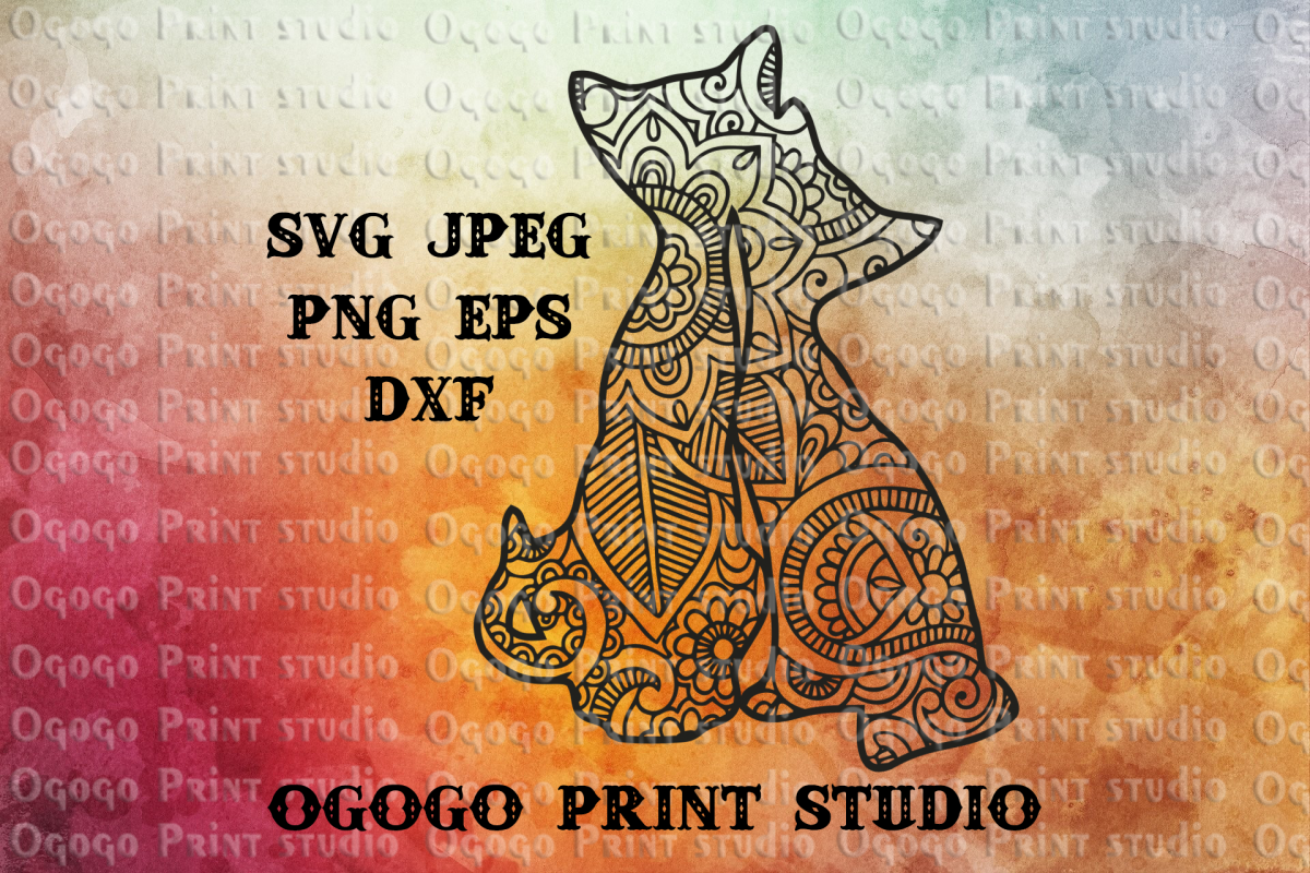 Cats SVG, Mandala svg, Zentangle SVG, Pet lover svg, Love example image 1