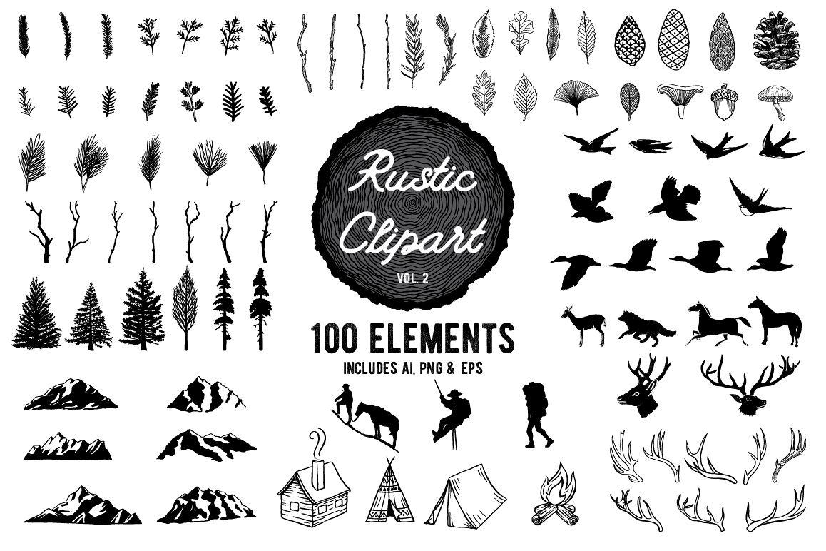 Rustic Clipart Designs Vol 2 Example Image