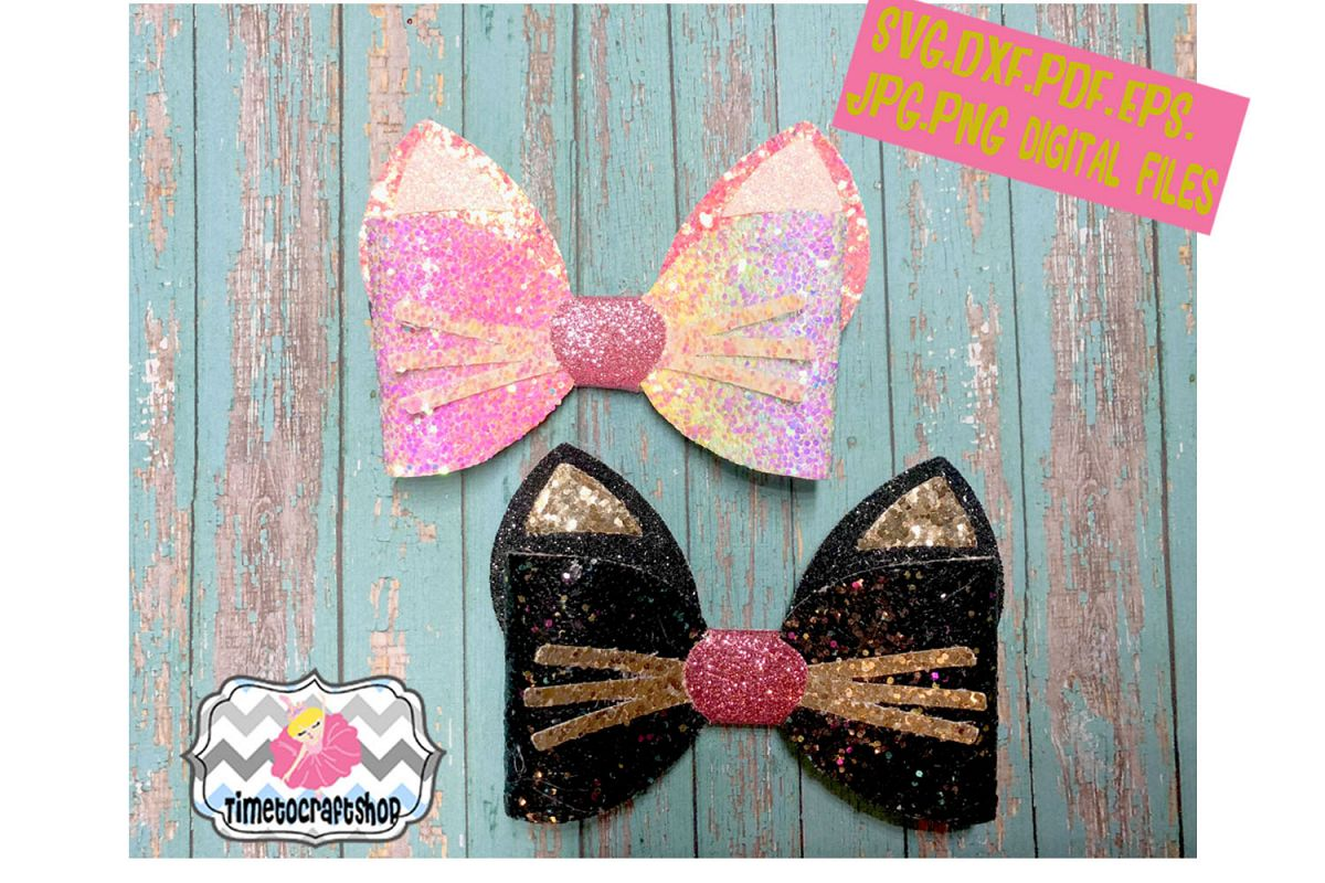 Cat Ears Hair bow Template. example image 1