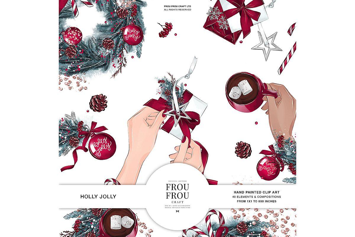 Christmas Tree Winter Present Gift Cozy Clip Art example image 1