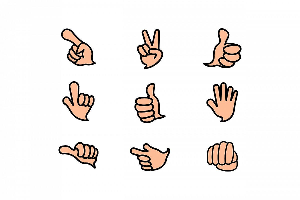 Vector Hand Icon Symbol Set