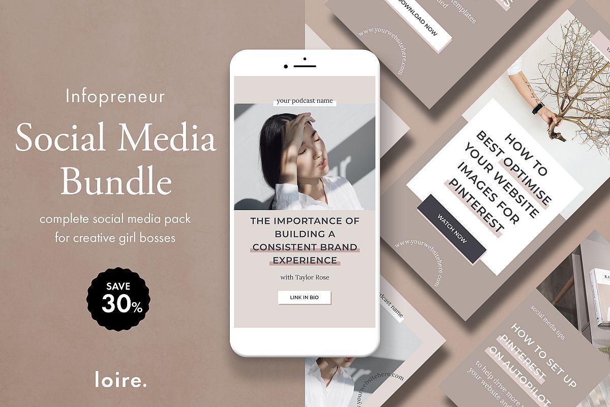 Infopreneur social media marketing bundle for bloggers example image 1