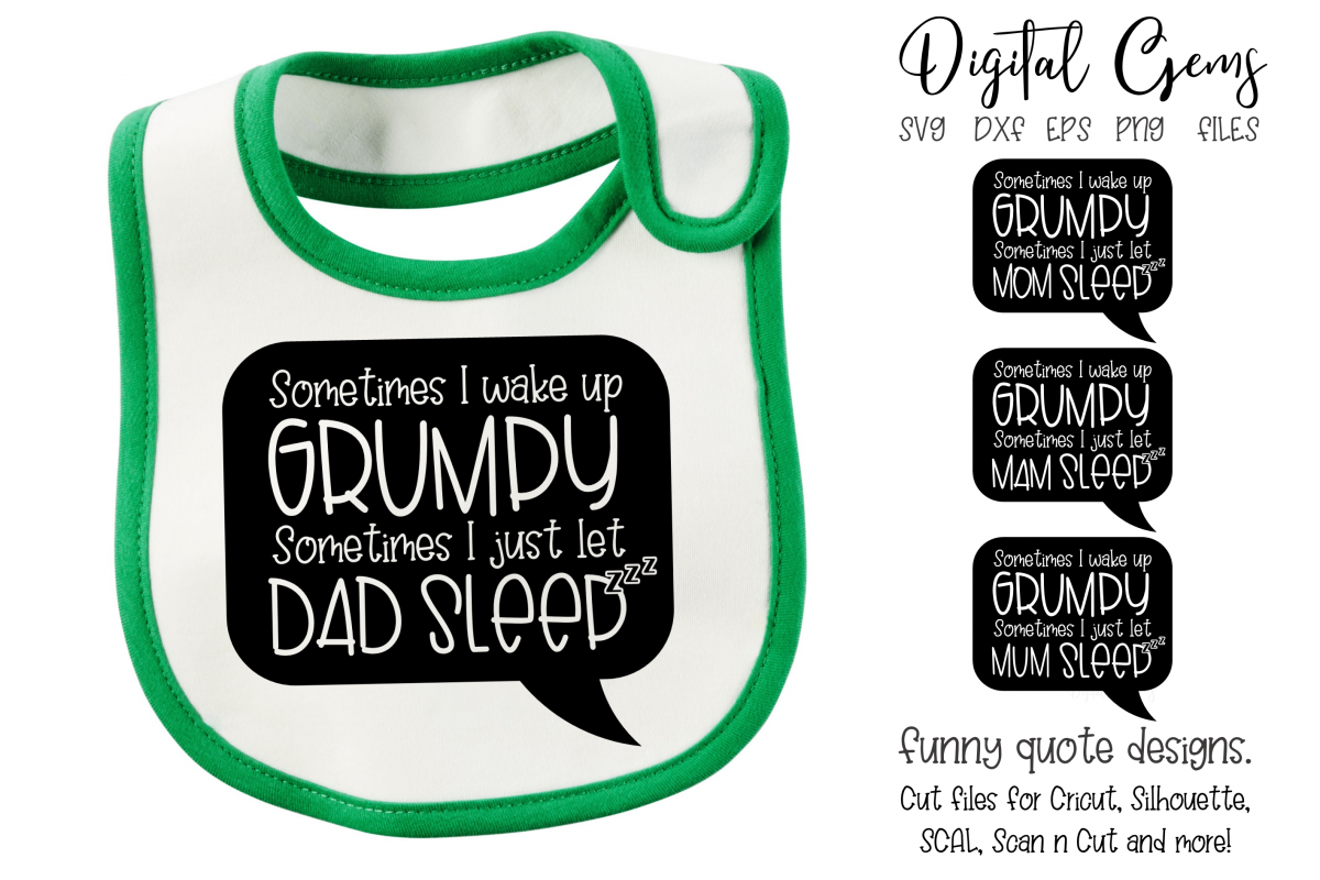 Sometimes I wake up GRUMPY designs. SVG / DXF / EPS / PNG example image 1