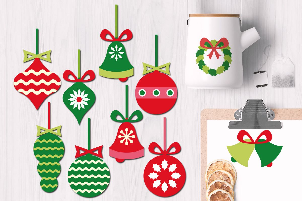 Christmas Hanging Ornaments Illustrations example image 1
