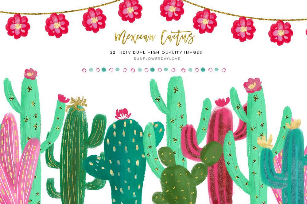 Cactus succulent. Mexican clipart