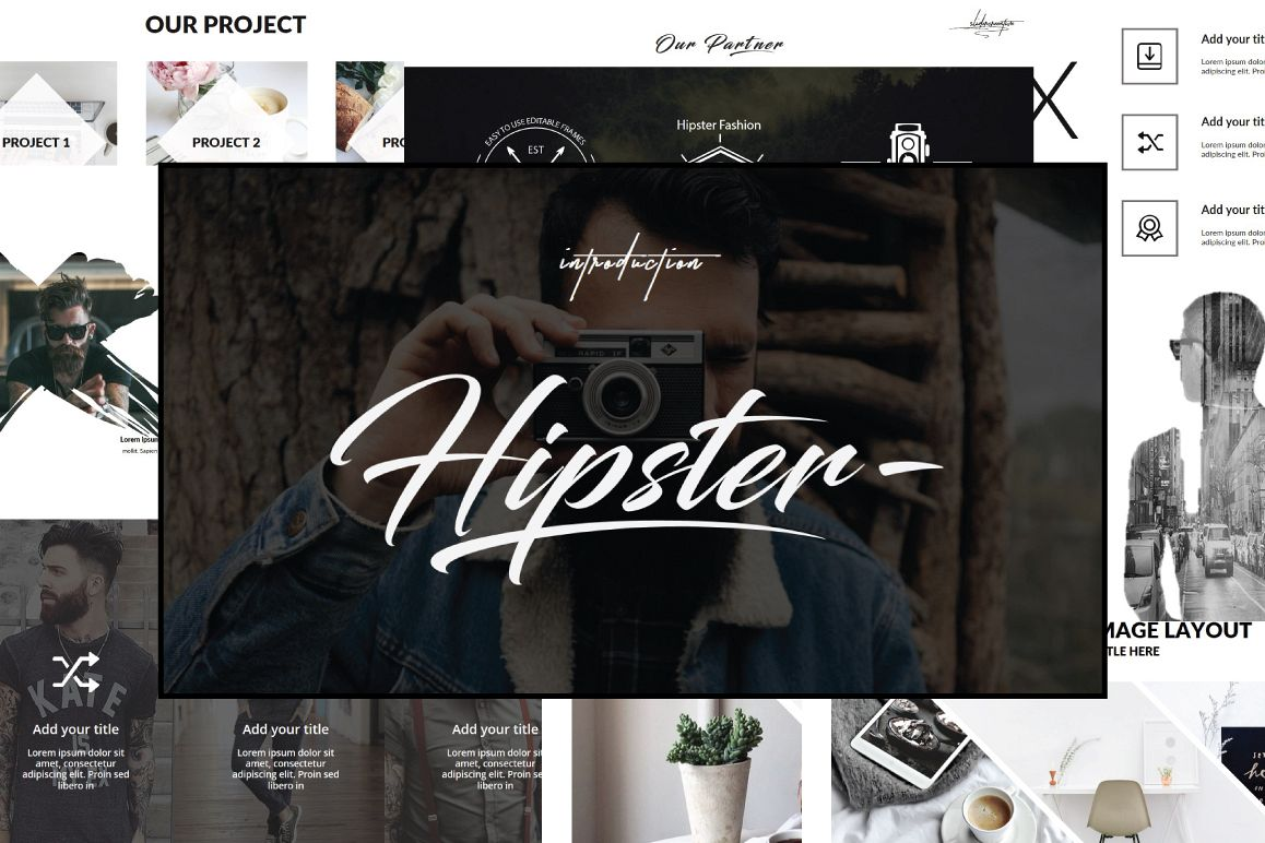 Hipster v.2 Powerpoint Template example image 1