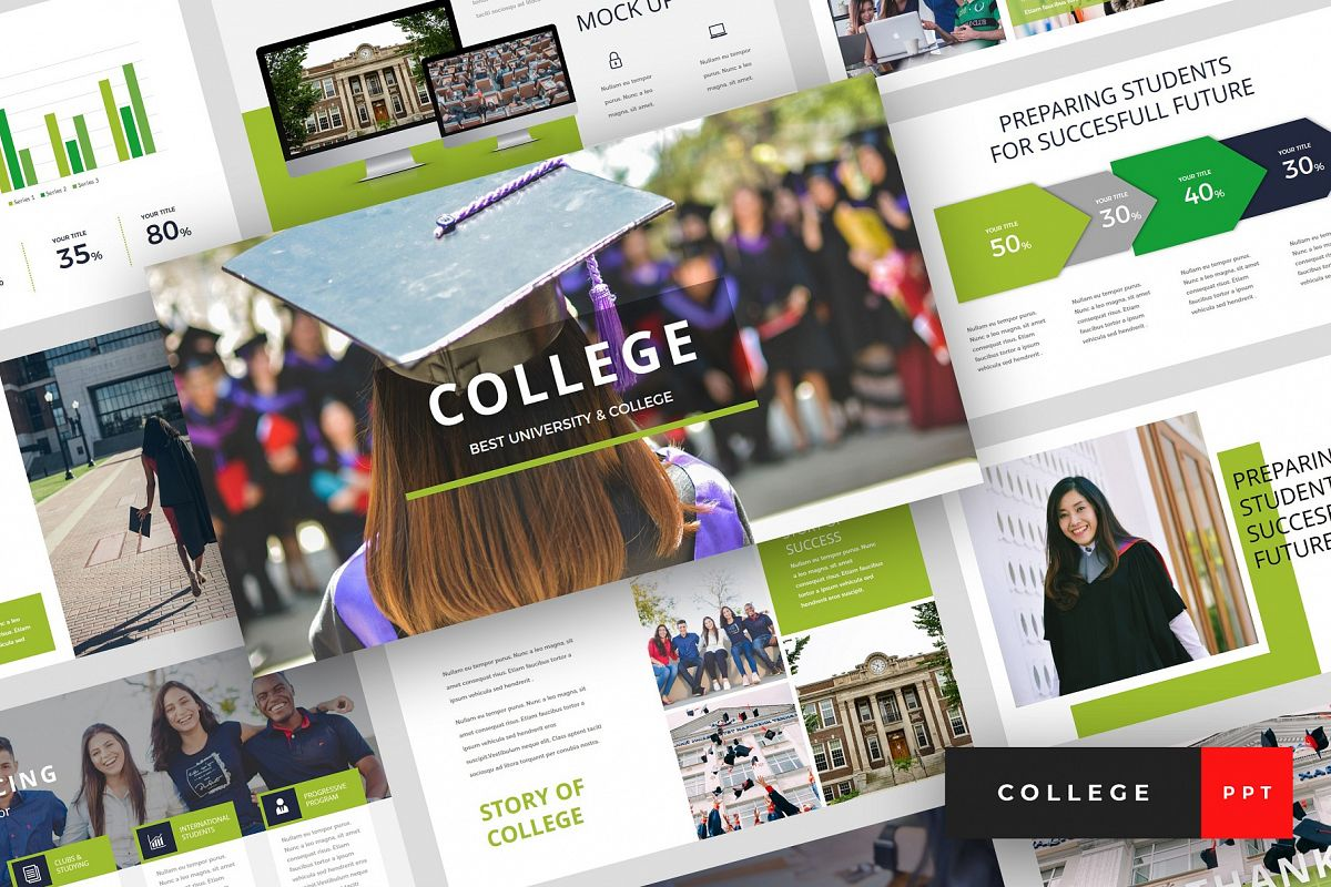 College - University PowerPoint Template example image 1