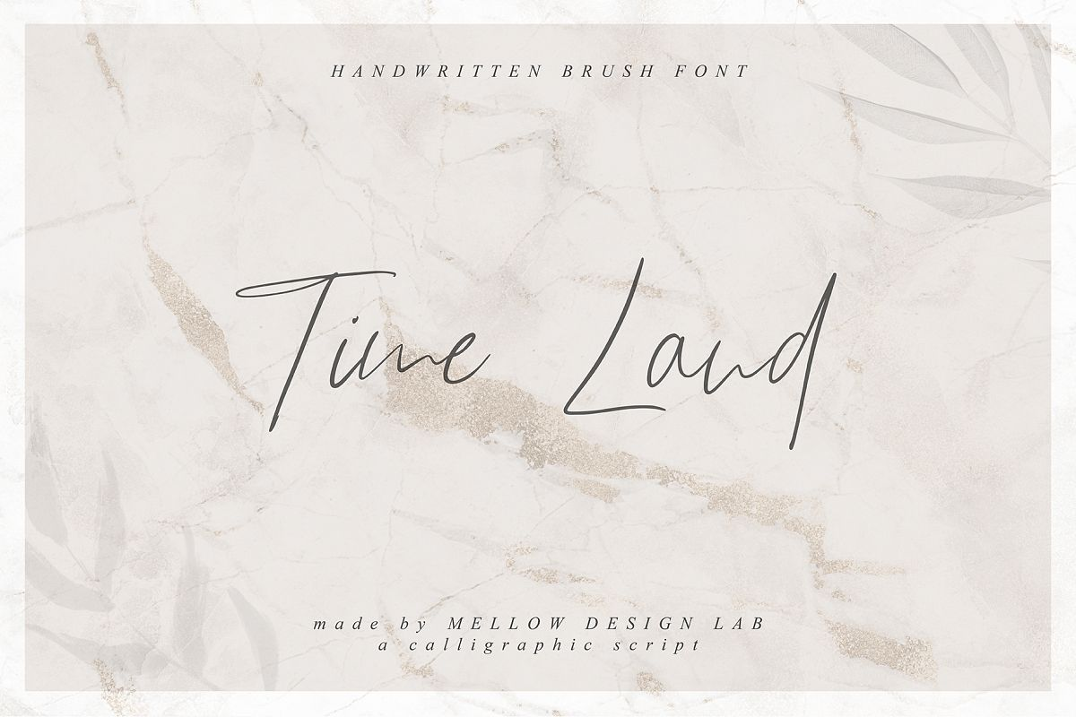 Time Land Font example image 1