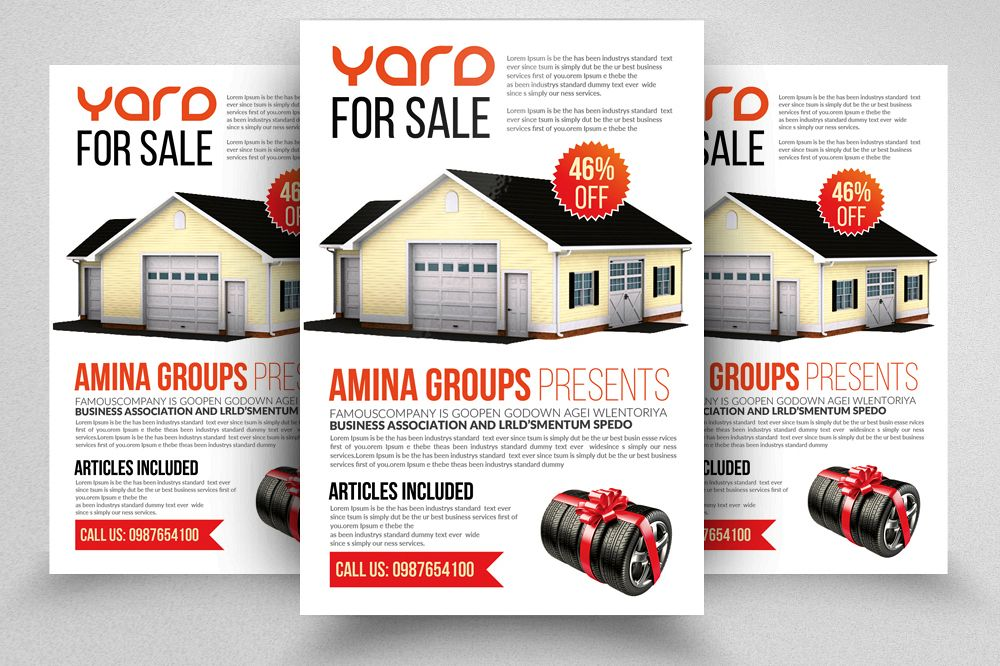 Latest Garage Sale Flyer templates example image 1