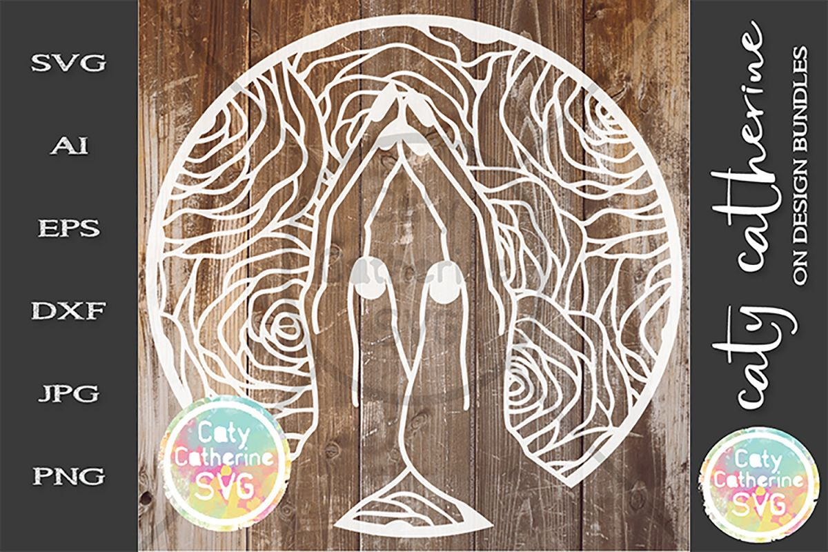 Praying Hands SVG Religious SVG Cut File example image 1