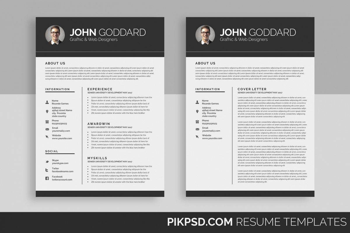 Resumecv 2 page by business templates design bundles resumecv 2 page example image altavistaventures Choice Image