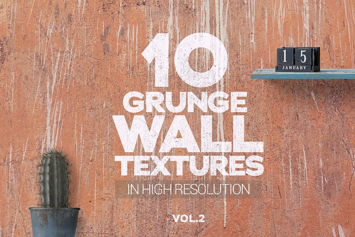 Grunge Wall Textures x10 vol2 example image 1