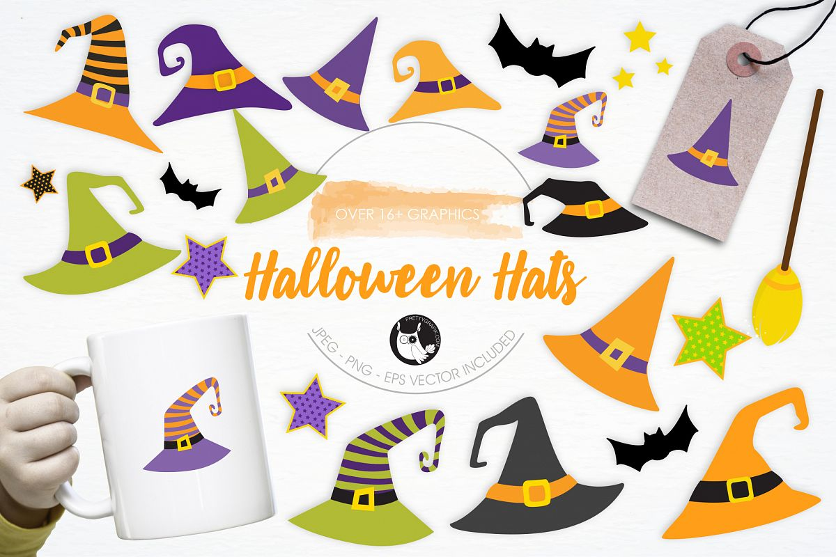 Halloween Hats graphics and illustrations example image 1