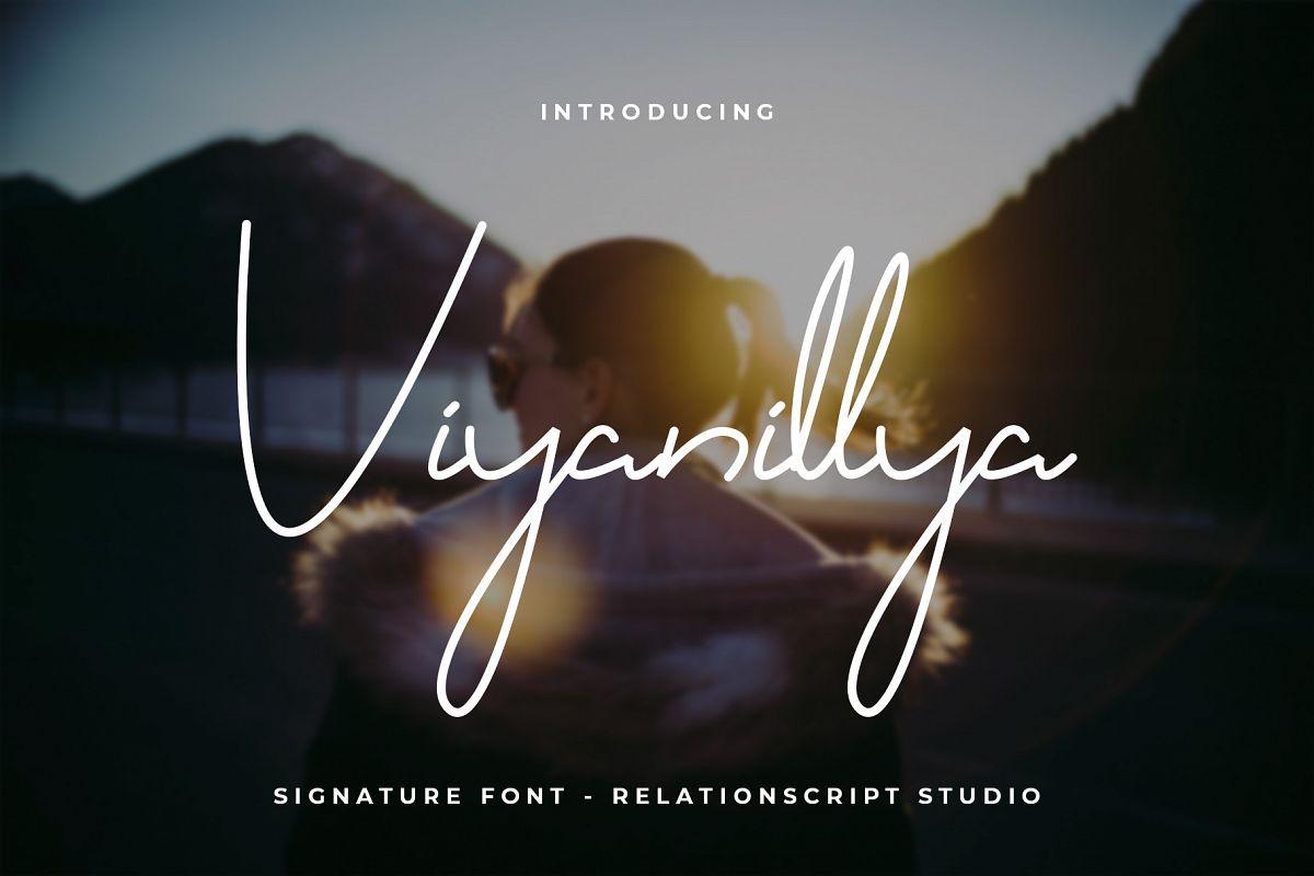 Viyanillya Signature Font example image 1