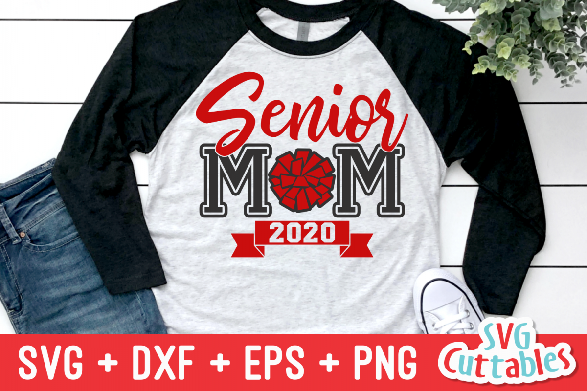 Cheer Senior Mom | Cheer SVG Cut File example image 1