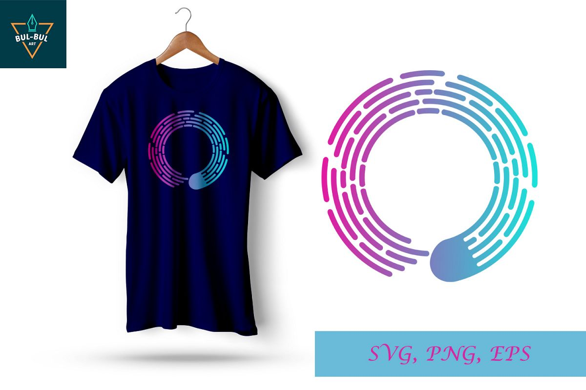 style line shape O svg, svg line, svg file, t-shirt screen printing design example image 1