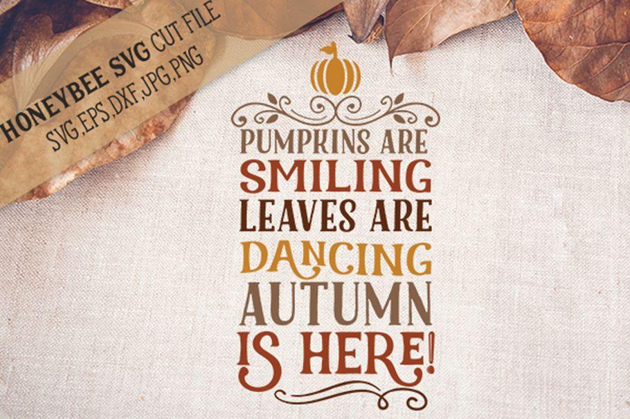 Pumpkins Are Smiling Poem svg example image 1