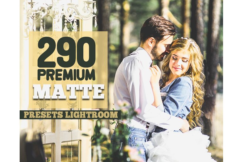 290 Premium Matte Preset Lightroom Presets (Presets for Lightroom 5,6,CC) example image 1