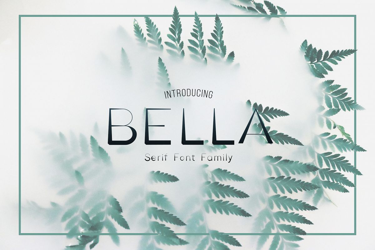 Bella Serif Font Family example image 1