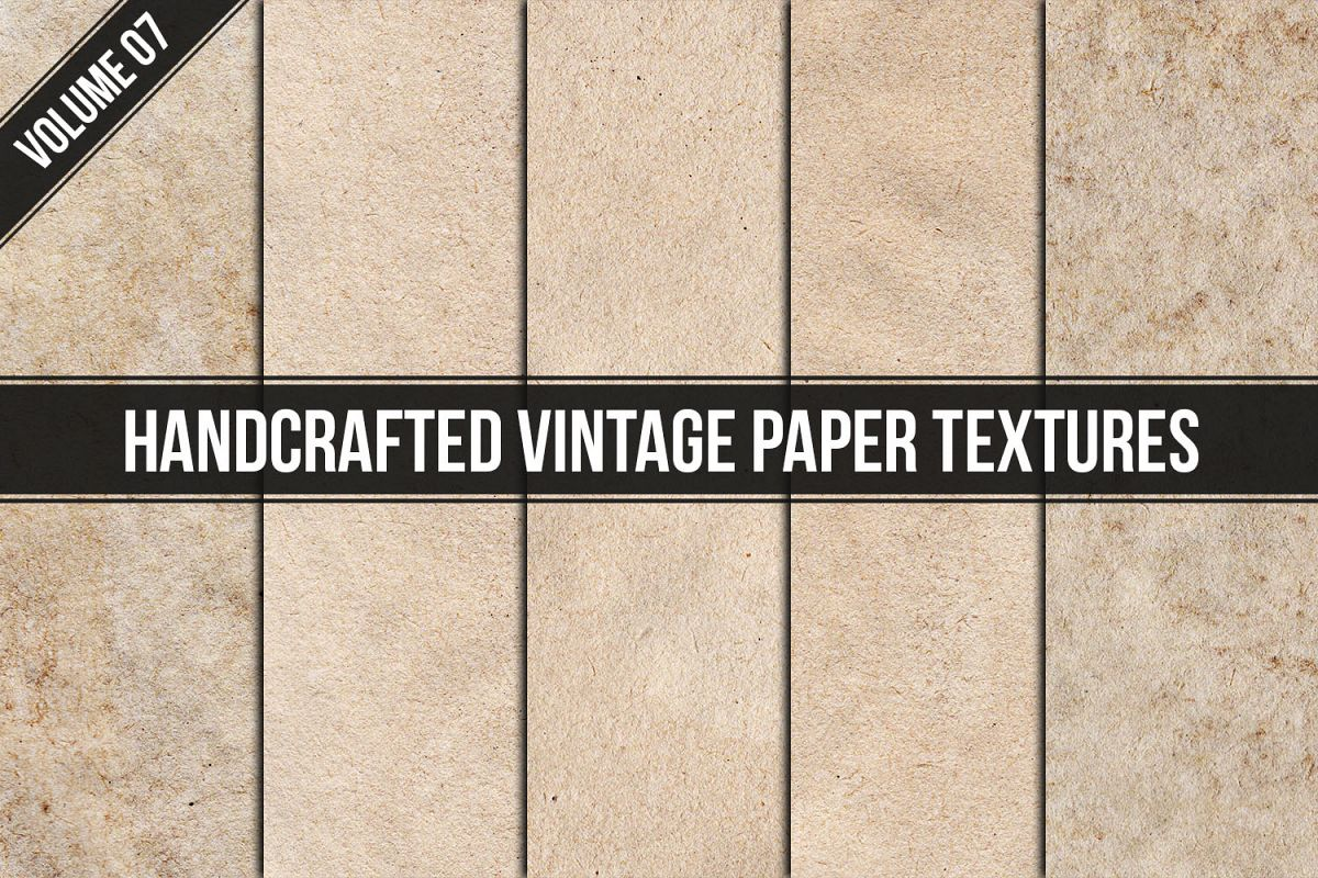 Handcrafted Vintage Paper Textures Vol. 07 example image 1
